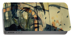 Portable Battery Charger featuring the painting The Rain Falls Down On Last Years Man  by Paul Lovering