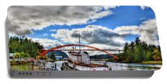 The Rainbow Bridge - Laconner Washington Portable Battery Charger by David Patterson