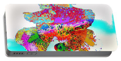 The Rainbow Iris Portable Battery Charger by Kimberlee Baxter