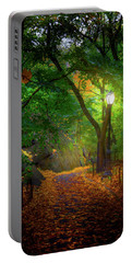 The Ramble In Central Park Portable Battery Charger by Mark Andrew Thomas