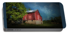Portable Battery Charger featuring the photograph The Red Barn by Marvin Spates