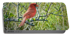 The Red Cardinal Portable Battery Charger by Judy Kay