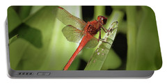The Red Dragonfly Nbr.1 Portable Battery Charger by Scott Cameron