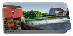 The Red Mill  On The Raritan River - Clinton New Jersey  Portable Battery Charger by Bill Cannon
