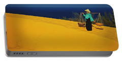 The Red San Dunes Of Mui Ne Vietnam Portable Battery Charger