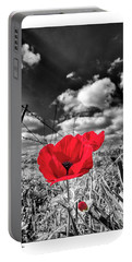 Portable Battery Charger featuring the photograph  The Red Spot by Arik Baltinester