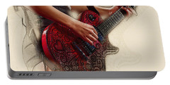 The Red Tour Guitar Portable Battery Charger