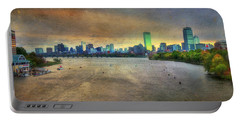 Portable Battery Charger featuring the photograph The Regatta - Head Of The Charles - Boston by Joann Vitali