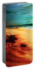 Portable Battery Charger featuring the painting The Remaining Pine by Winsome Gunning