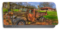 The Resting Place 1947 Dodge Dump Truck Georgia Farm Art Portable Battery Charger