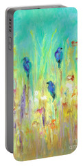 Portable Battery Charger featuring the painting The Resting Place by Frances Marino