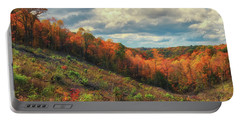 The Ridges Of Southern Ohio In Fall Portable Battery Charger