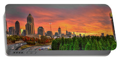 The Rise Of Money Atlanta Autumn Sunset Portable Battery Charger