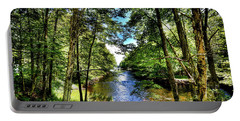 Portable Battery Charger featuring the photograph The River At Covewood by David Patterson