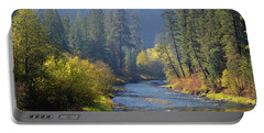 The River Runs Through Autumn Portable Battery Charger