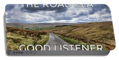 The Road Is A Good Listener Portable Battery Charger