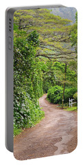 The Road Less Traveled-waipio Valley Hawaii Portable Battery Charger