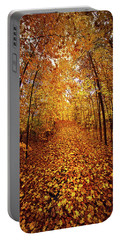 The Road Never Traveled Portable Battery Charger by Phil Koch