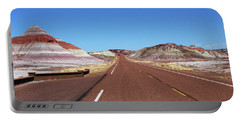 The Road Through The Painted Desert Portable Battery Charger