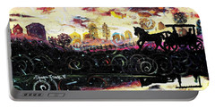 Portable Battery Charger featuring the painting The Road To Home by Shana Rowe Jackson