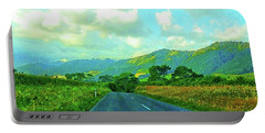 Portable Battery Charger featuring the photograph The Road To Te Aroha by Kathy Kelly