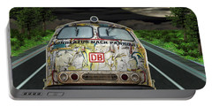 Portable Battery Charger featuring the digital art The Road Trip by Angela Hobbs