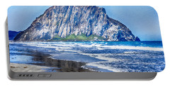 The Rock At Morro Bay Large Canvas Art, Canvas Print, Large Art, Large Wall Decor, Home Decor, Photo Portable Battery Charger by David Millenheft