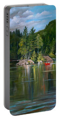 The Rock On Mirror In Woodstock New Hampshire Portable Battery Charger