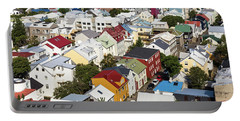 The Roofs Of Reykjavik Portable Battery Charger