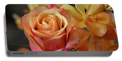 Portable Battery Charger featuring the photograph The Rose And The Orchid by Diana Mary Sharpton