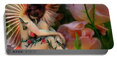 The Rose Fairy Portable Battery Charger by Carol Cavalaris