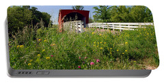 The Roseman Bridge In Madison County Iowa Portable Battery Charger