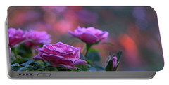 Portable Battery Charger featuring the photograph The Roses by Lance Sheridan-Peel