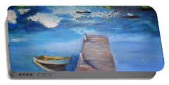 Portable Battery Charger featuring the painting The Rowboat by Gary Smith
