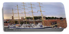 The Royal Clipper Docked In Venice Italy Portable Battery Charger by Richard Rosenshein