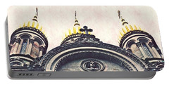 The Russian Church In Wiesbaden Portable Battery Charger by Sarah Loft