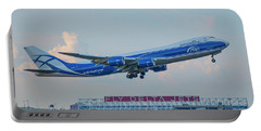 The Russian Connection Air Bridge Cargo Abc B747-8f Cargo Jet Art Portable Battery Charger