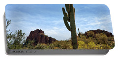 The Saguaro Against The Sky Portable Battery Charger by Kirt Tisdale
