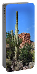Portable Battery Charger featuring the photograph The Saguaro And The Deep Blue Sky by Kirt Tisdale