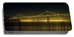 The San Francisco Oakland Bay Bridge At Night Portable Battery Charger