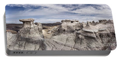 Portable Battery Charger featuring the photograph The Sandcastles by Melany Sarafis