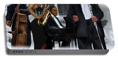 The Saxophone And The Lady Portable Battery Charger