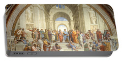 The School Of Athens, Raphael Portable Battery Charger by Science Source