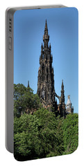 Portable Battery Charger featuring the photograph The Scott Monument In Edinburgh, Scotland by Jeremy Lavender Photography