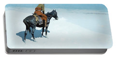The Scout Friends Or Foes Portable Battery Charger by Frederic Remington