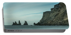 The Sea Stacks Of Vik, Iceland Portable Battery Charger