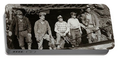 The Search And Retrieval Team After The Knox Mine Disaster Port Griffith Pa 1959 At Mine Entrance Portable Battery Charger