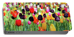 The Season Of Tulips Portable Battery Charger
