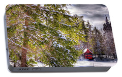 Portable Battery Charger featuring the photograph The Secluded Boathouse by David Patterson