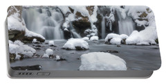 The Secret Waterfall In Winter 1 Portable Battery Charger